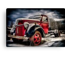 Old Trucks in HDR Canvas Print