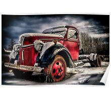 Old Trucks in HDR Poster