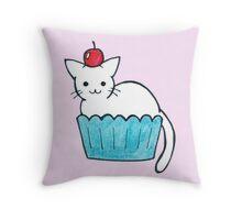 Cupcat Throw Pillow