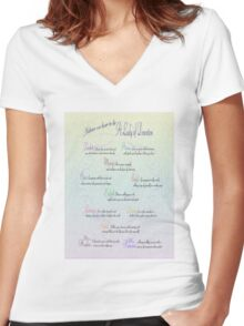 Advice to be a Lady of Downton  Women's Fitted V-Neck T-Shirt