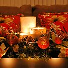 Christmas Candle Arrangement by Kathy Baccari