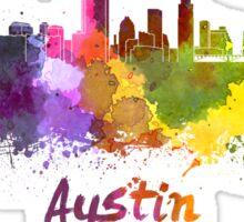 Austin skyline in watercolor Sticker
