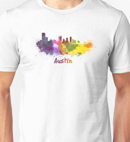 Austin skyline in watercolor Unisex T-Shirt