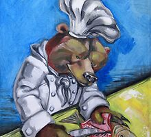"""Carnivorous Chef """"The Bear"""" by Ellen Marcus"""