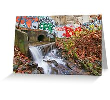 Tattooed Waterfall Greeting Card
