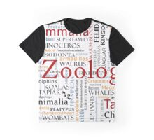 Mammals In Typography Graphic T-Shirt