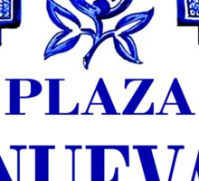 Plaza Nueva, Granada Street Sign, Spain Sticker