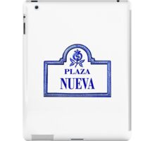 Plaza Nueva, Granada Street Sign, Spain iPad Case/Skin