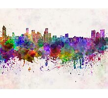 Baltimore skyline in watercolor background Photographic Print