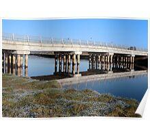 irish road bridge over cold river Poster