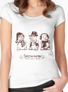 Christmas & New Year Women's Fitted Scoop T-Shirt