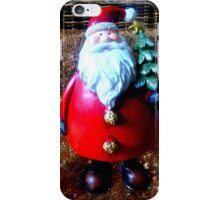 Santa with Christmas Tree iPhone Case/Skin
