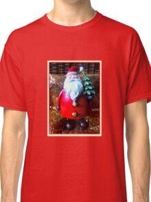 Santa with Christmas Tree Classic T-Shirt