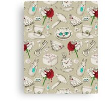 Wear to Wonderland - Neutral Tan and Cream Canvas Print