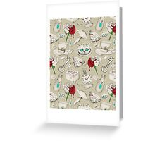 Wear to Wonderland - Neutral Tan and Cream Greeting Card
