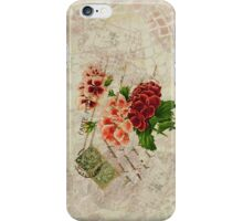 Decoupage anemone iphone iPhone Case/Skin