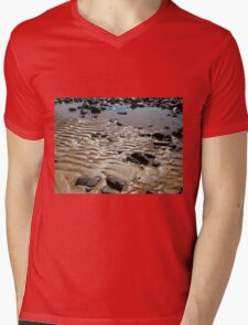 Sand Ripples on the beach, Penguin, Tasmania, Australia. Mens V-Neck T-Shirt
