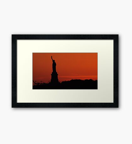 Liberty Sunset Framed Print