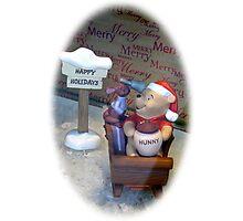 Winnie Christmas Photographic Print