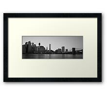 Manhattan & Brooklyn Bridge Framed Print