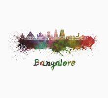 Bangalore skyline in watercolor Baby Tee