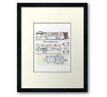 Serenity Firefly floorplan schematics Framed Print