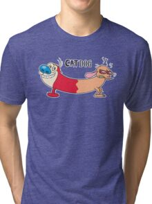 The original CatDog Tri-blend T-Shirt