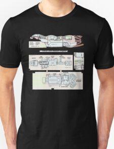 Serenity Firefly floorplan schematics T-Shirt