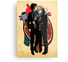 Sherlock: HEART and mind Metal Print
