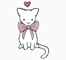 Kitten with Pink Bow Kids Clothes