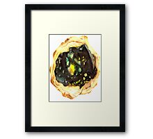 Watercolor Opal – October Birthstone Framed Print