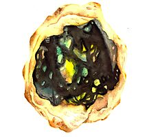Watercolor Opal – October Birthstone Photographic Print