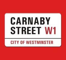 Carnaby Street, London Street Sign, UK One Piece - Short Sleeve