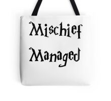 Harry Potter Mischief Managed Marauder's Map Tote Bag