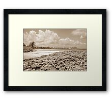 Beach in Paradise island, The Bahamas Framed Print