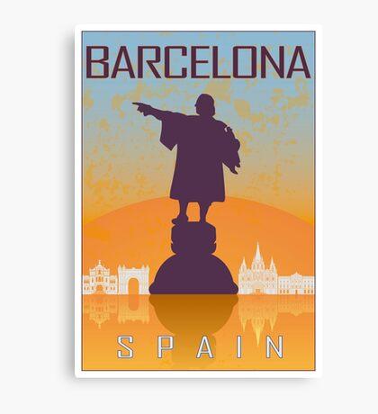 Barcelona vintage poster Canvas Print