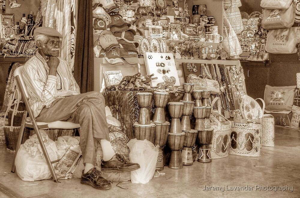 Straw Market Vendor in Nassau, The Bahamas by Jeremy Lavender Photography