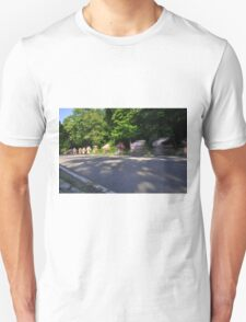 bicycle riders motion blur  Unisex T-Shirt