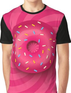 Pink donut  Graphic T-Shirt