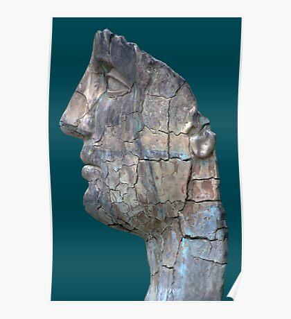 Cracked Head Sculpture, Boboli Gardens, Florence, Italy Poster
