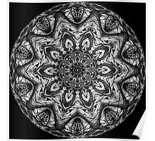 Black & White Kaleidoscope 13 Poster