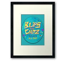 Blips and Chitz Framed Print