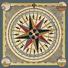 Vintage Compass Illustration by monsterplanet