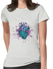 Zombie Heart Womens Fitted T-Shirt