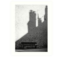 Bench in Perouge Art Print