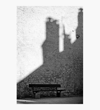 Bench in Perouge Photographic Print