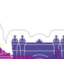 Barcelona skyline pop Sticker