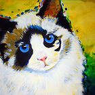 'Chloe' Calico Tabby Kitty Cat by Kelly Telfer