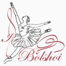 I LOVE BOLSHOI THEATER T-shirt by ethnographics