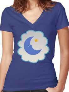 Bedtime Bear (high version) Women's Fitted V-Neck T-Shirt